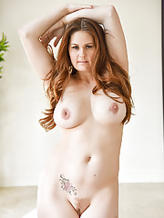 Allison exploring herself and showcasing her voluptuous curves
