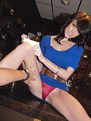 Amazing long leg milf waitress get rammed hard in these amateur milf fuck pics