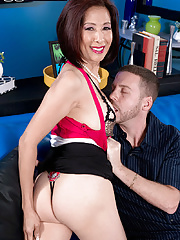 Asian Granny Kim Anh Gets Her Booty Stuffed With Schlong