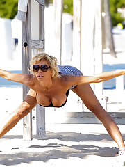 Beach MILF babe Lyla getting banged doggystyle and facialized