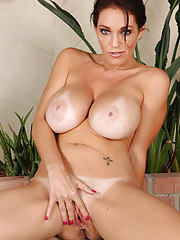 Beautiful 36 year old Charlee Chase praticing some nude stretches