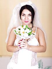 Beautiful bride Tanita in white