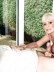 Beautiful Gilf blonde Leah LAmour craves a cock
