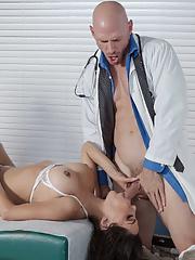 Big booty latina MILF Lela Star in nurse uniform rides doctor big white dick
