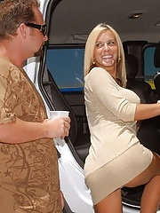 Big tits milf renee locks her keys in the car and goes home with the hunter for a hot hard fucking cumfaced sex