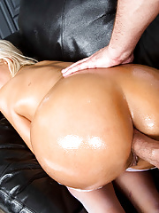 Big titted Bridgette B in sexy bunny outfit fucking big cock in kitchen