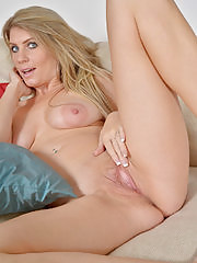 Big tittied blonde housewife Ashleigh Mckenzie playing for the camera