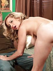 Blond gilf Cassy Torri showing her big boobies