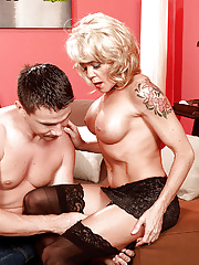 Blonde Granny Josie Kennedy gets her sweet pussy banged