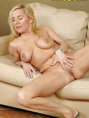 Blonde mature slut fucking her younger loveslave
