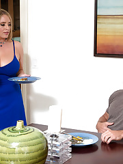 Busty BBW Mom Gets Fuck In The Kitchen