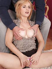 Busty blonde Jennyfer B gets every inch of her body pleasured by her man