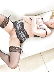 Busty Briana Banks posing in Lingerie