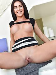 Busty Inna flashing her pussy in public