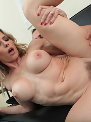 Busty mature housewife Cory Chase takes it up her hungry twat