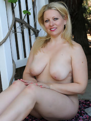 Busty Zoey Tyler gets naked outdoors