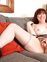 Chubby British old lady in glasses getting very naughty