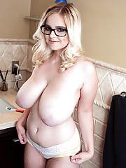 Codi Vore unveiling massive hooters and ass in glasses