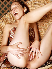 Cute Fiona Fillmore showing off her tidy mature pussy