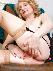 Cute Isabella B from AllOver30 looking hot in her lingerie