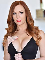 Dani Jensen Big Boobs Black Swimsuit in High Heels in Busty Beauty