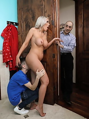 Delicious hottie Nina Elle cheating her husband with young neighbor