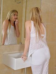 Elegant Ashleigh Mckenzie getting naked