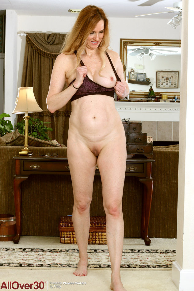 All Over 30] Fitness mature Phoebe Waters sitting on yoga