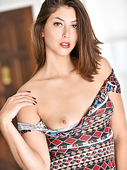 Fuckable MILF Lola posing and showing her small boobs