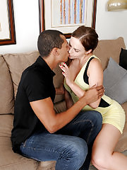Gorgeous busty Tina Fay gets fucked by her lucky guy pal, making those big breasts bounce and swing