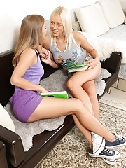 Gorgeous MILF lesbians Malia and Teena licking and toying