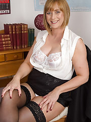 Hairy American secretary feeling a bit naughty Horny Professor April teaches you a lesson you'll never forget... or else