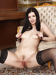 Helena Black looking so hot in her stockings and lingerie