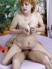 Horny housewife getting done by two guys