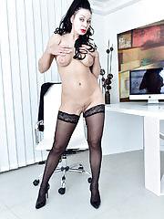 Horny Kinky Eva Ann Shows Those Big Tits