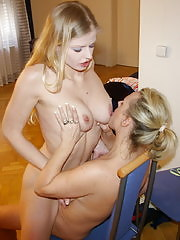 Horny MILF taking care of her teeny girlfriend