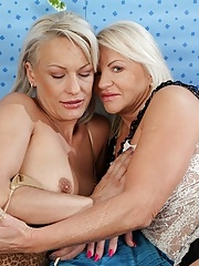 Horny older lesbians Iris and Vanessa Moore eating pussy