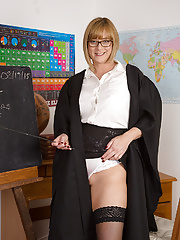 Horny Professor April teaches you a lesson you'll never forget...or else