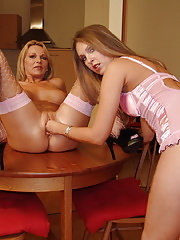Hot MILF getting fisted and pissed on