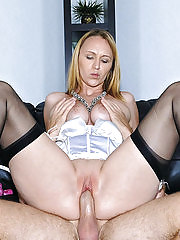 Hot milf with great ass and big tits gets picked up and banged watch her bounce on cock