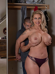 Incredible Ryan Conner takes off her clothing before cheating her husband