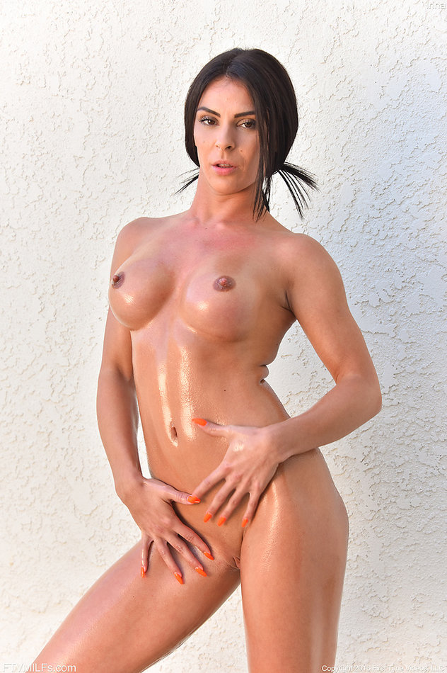 oiled nudes in a shower