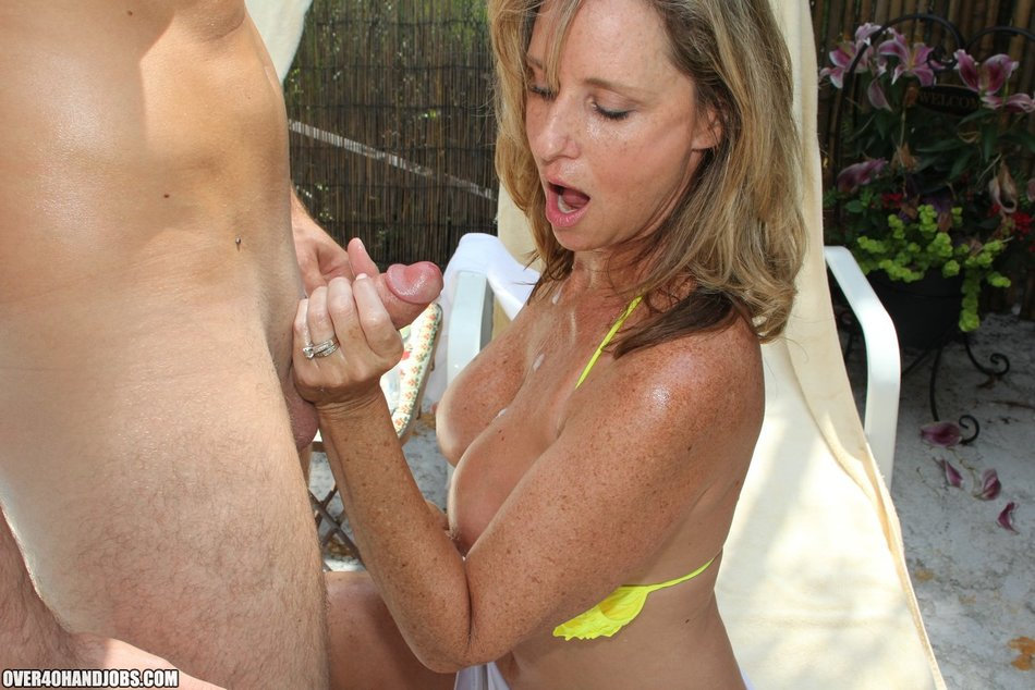 NATASHA: Jodi west handjob by pool