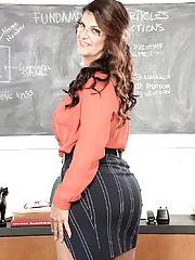 Kinky mature teacher valentina rosario stripping in her classroom