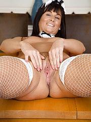 Lelani Tizzie playing french maid