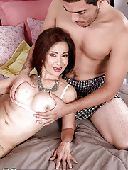 Mature asian Kim Anh fucked in pussy and asshole