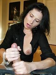 Mature babe Tatiana give jack and jerk job