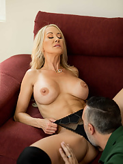 Mature pornstar Brandi Love hammered and creampied by Keiran Lee