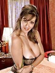 Mature with huge tits stripping from nylon stockings and lacy lingerie