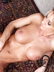 Milf babe at her office spreads her creamy pussy